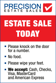 Professional Signage for an Estate Sale in MA